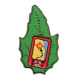 Outdoor, Camp, Geocaching, Game, Treasure, Hunt, Leaf, Set, Patch, Embroidered Patch, Merit Badge, Badge, Emblem, Iron-On, Iron On, Crest, Lapel Pin, Insignia, Girl Scouts, Boy Scouts, Girl Guides