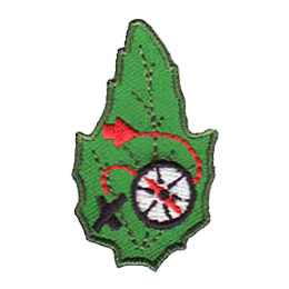 Outdoor, Camp, Orienteering, Compass, Arrow, Map, Leaf, Set, Patch, Embroidered Patch, Merit Badge, Badge, Emblem, Iron-On, Iron On, Crest, Lapel Pin, Insignia, Girl Scouts, Boy Scouts, Girl Guides