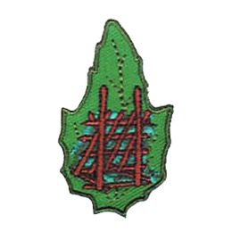 Outdoor, Camp, Shelter, Build, Lean-to, Leaf, Set, Patch, Embroidered Patch, Merit Badge, Badge, Emblem, Iron-On, Iron On, Crest, Lapel Pin, Insignia, Girl Scouts, Boy Scouts, Girl Guides