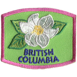 This patch displays British Columbia's provincial flower: the pacific dogwood.