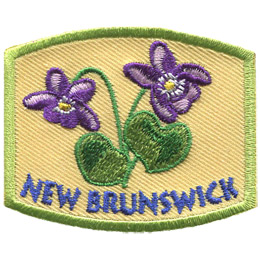 This patch displays New Brunswick's provincial flower: the purple violet.